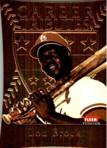 Photo of 2004 Fleer Tradition Career Tributes Die Cut #8 Lou Brock/79