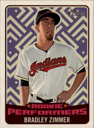 Photo of 2017 Topps Heritage Rookie Preformers #RPBZ Bradley Zimmer