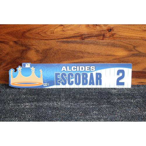 Game-Used Locker Name Plate: Alcides Escobar