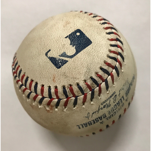 Yuli Gurriel Game-Used Hit Double Baseball - July 4, 2017 - Top 3
