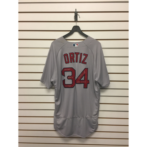 David Ortiz Autographed, Game-Used October 7, 2016 ALDS Game 2 Road Jersey
