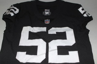 NFL - RAIDERS KHALIL MACK SIGNED AUTHENTIC RAIDERS JERSEY - SIZE 42