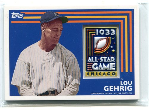 Photo of 2017 Topps MLB All Star Logo Patch #ASLLG Lou Gehrig -- Hall of Famer