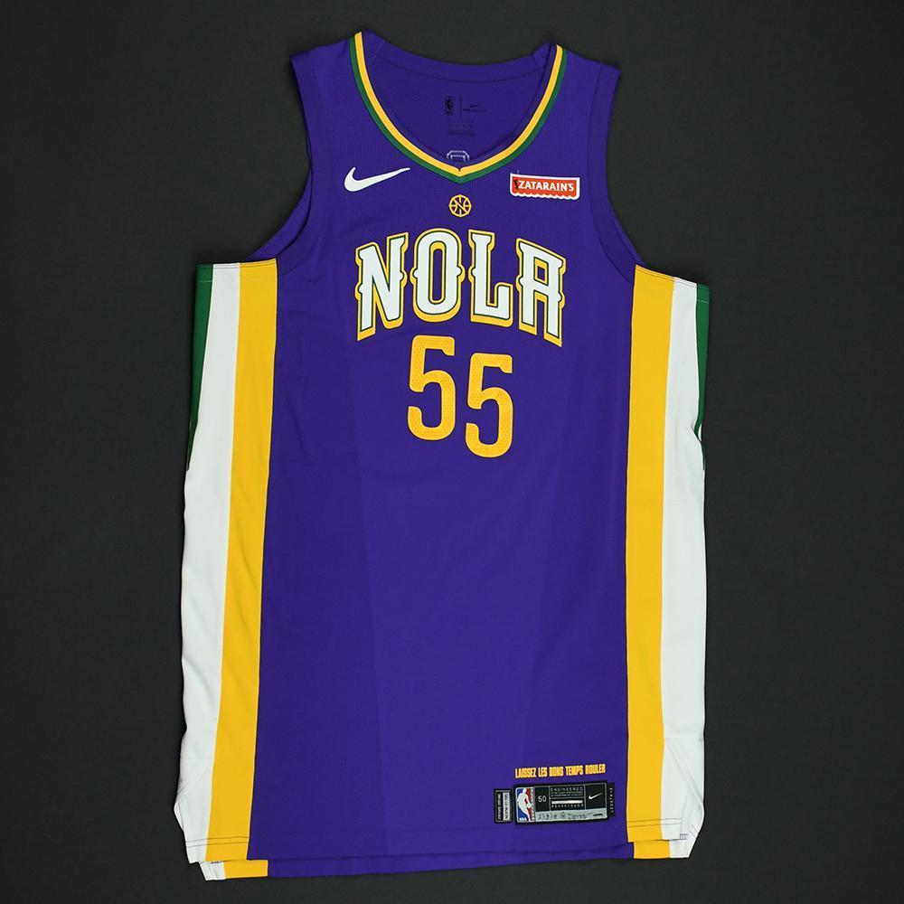 E'Twaun Moore - New Orleans Pelicans - Game-Worn 'City' Jersey - 2017-18 Season