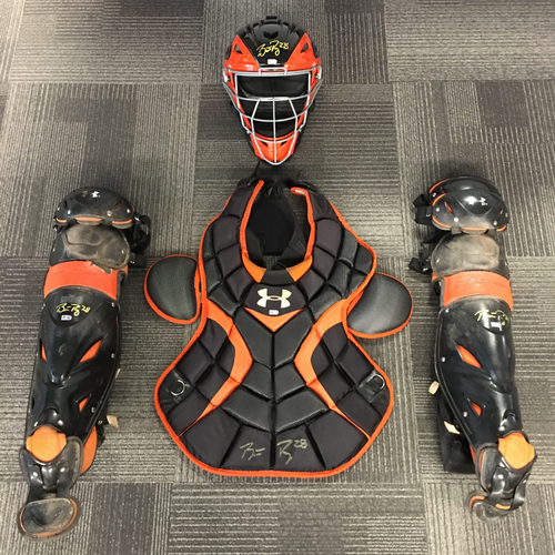 Photo of Buster Posey 6x ALL-STAR - Game-Used and Autographed Catchers Gear
