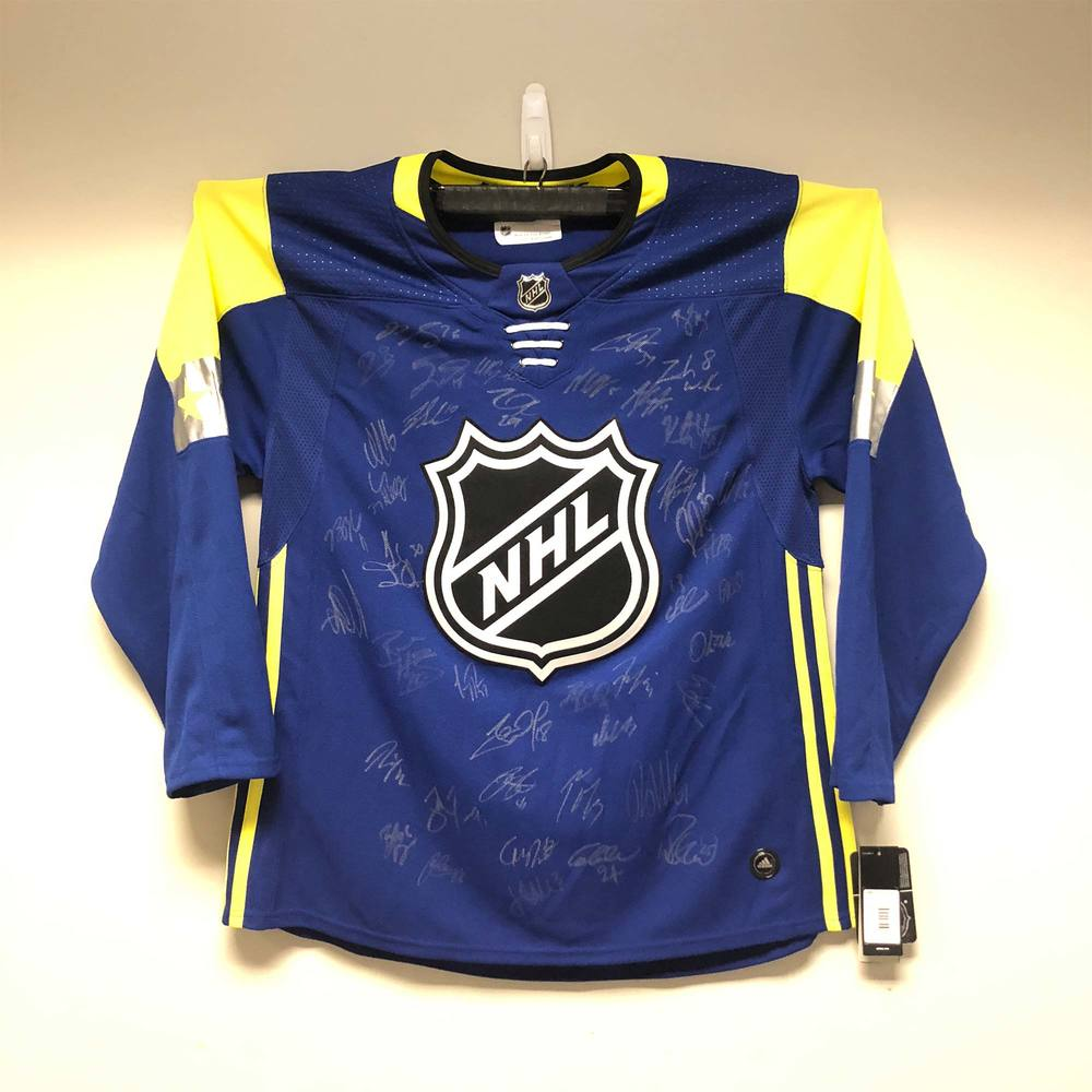 2018 NHL All-Star Atlantic Division adidas Jersey Signed by the 2018 NHL All-Stars