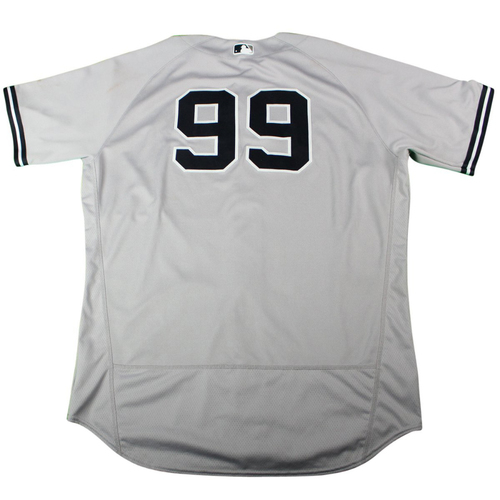 Photo of Aaron Judge New York Yankees 2018 Road Game Used #99 Jersey (5/3/2018)