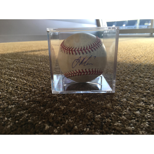 Photo of Joe Mauer Autographed Game-Used Baseball