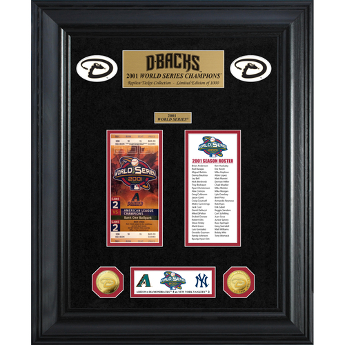 Photo of Arizona Diamondbacks World Series Deluxe Gold Coin & Ticket Collection