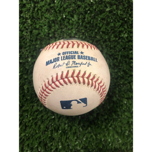 Photo of Freddie Freeman Game Used Hit Double Baseball - May 18, 2019