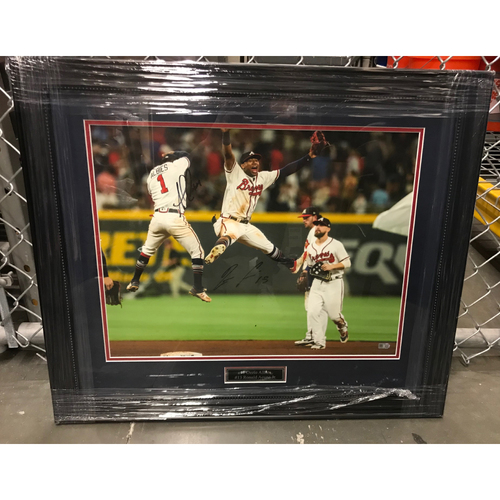 Photo of Ronald Acuña Jr. And Ozzie Albies MLB Authenticated Autographed Photo (Framed)