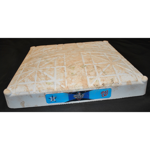 Photo of Game-Used 1st Base: 2019 World Series - Game 3: Innings 6-9