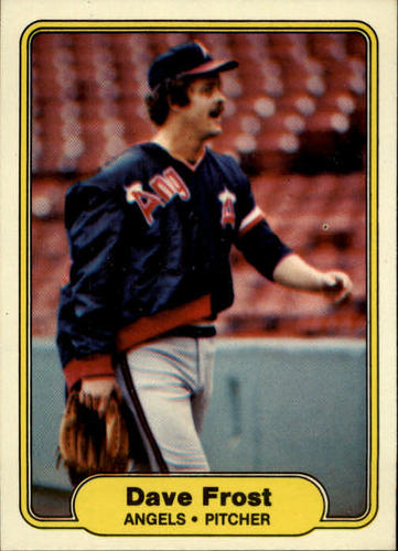 Photo of 1982 Fleer #460A Dave Frost 5 mm/space before ERA