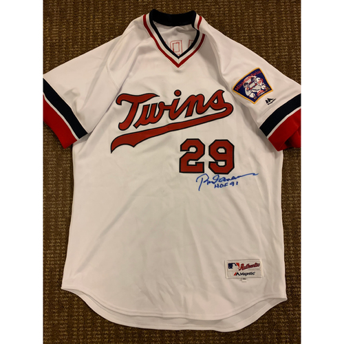 Photo of Autographed Rod Carew Jersey