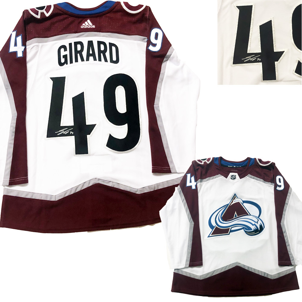SAM GIRARD Signed Colorado Avalanche White Adidas PRO Jersey