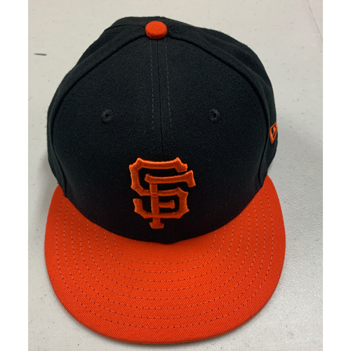 Photo of 2020 Team Issued Cap - Orange Alternate Cap - #1 Mauricio Dubon - authenticated 8/16/20