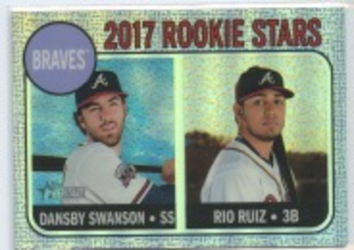 Photo of 2017 Topps Heritage Chrome Purple Refractors #76 Dansby Swanson/Rio Ruiz