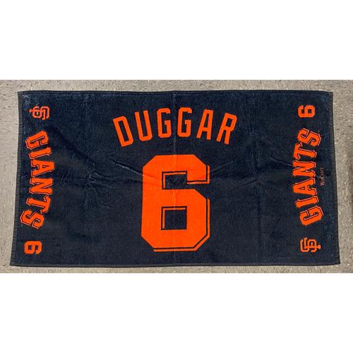 "Photo of 2020 Team Issued Player Towel - #6 Steven Duggar - Towel Measurements - 40""x20"""