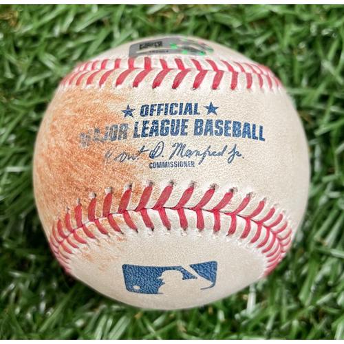 Photo of Game Used ALWCS Game #2 Baseball: Randal Grichuk single off Tyler Glasnow - Top 4 - September 30, 2020 v TOR