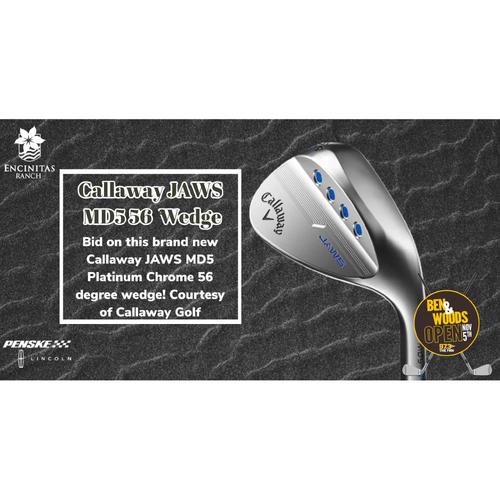 Photo of CallawayJAWS MD5 Platinum Chrome 56 degree wedge