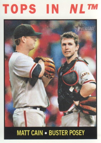 Photo of 2013 Topps Heritage #423 Matt Cain/Buster Posey