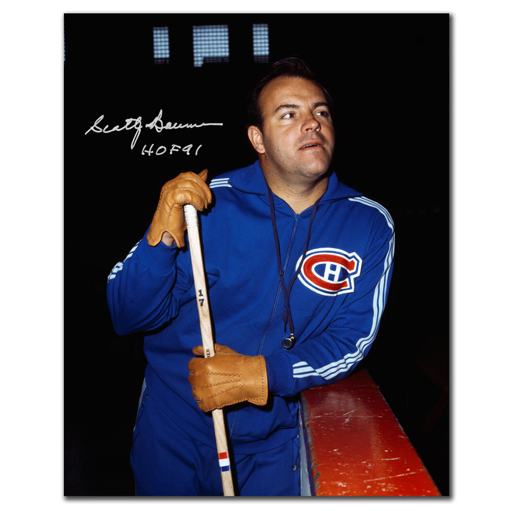 Scotty Bowman Montreal Canadiens HOF Autographed 8x10