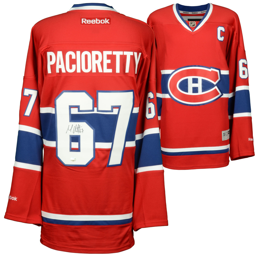 Max Pacioretty Montreal Canadiens Autographed Red Reebok Premier Jersey