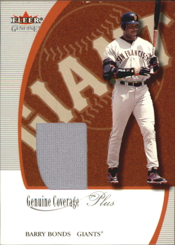 Photo of 2001 Fleer Genuine Coverage Plus #1 Barry Bonds