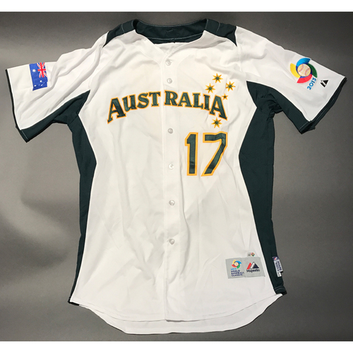 Photo of 2013 World Baseball Classic Jersey - Australia Jersey, Mitch Dening #17