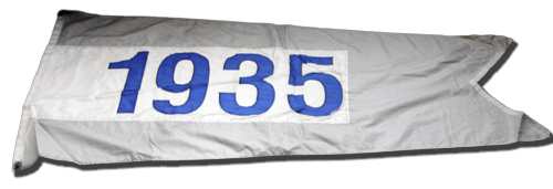 Wrigley Field Collection -- Rooftop Flag -- 1935