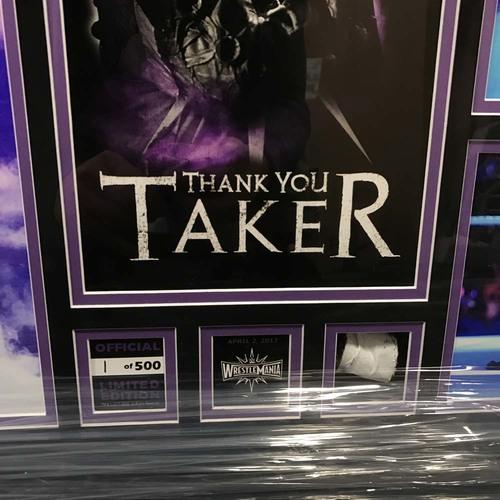 Undertaker Quot Thank You Taker Quot Wrestlemania 33 Commemorative