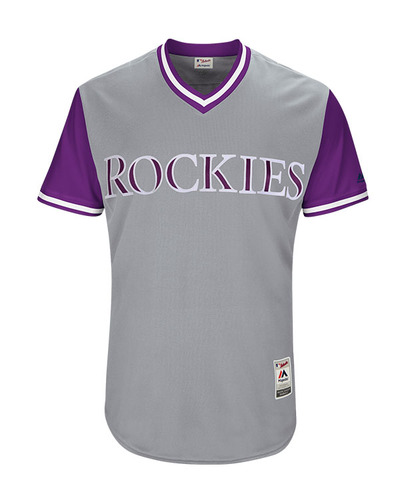 "Photo of Tony ""Tony D"" Diaz Colorado Rockies 2017 Game-Used Players Weekend Jersey"