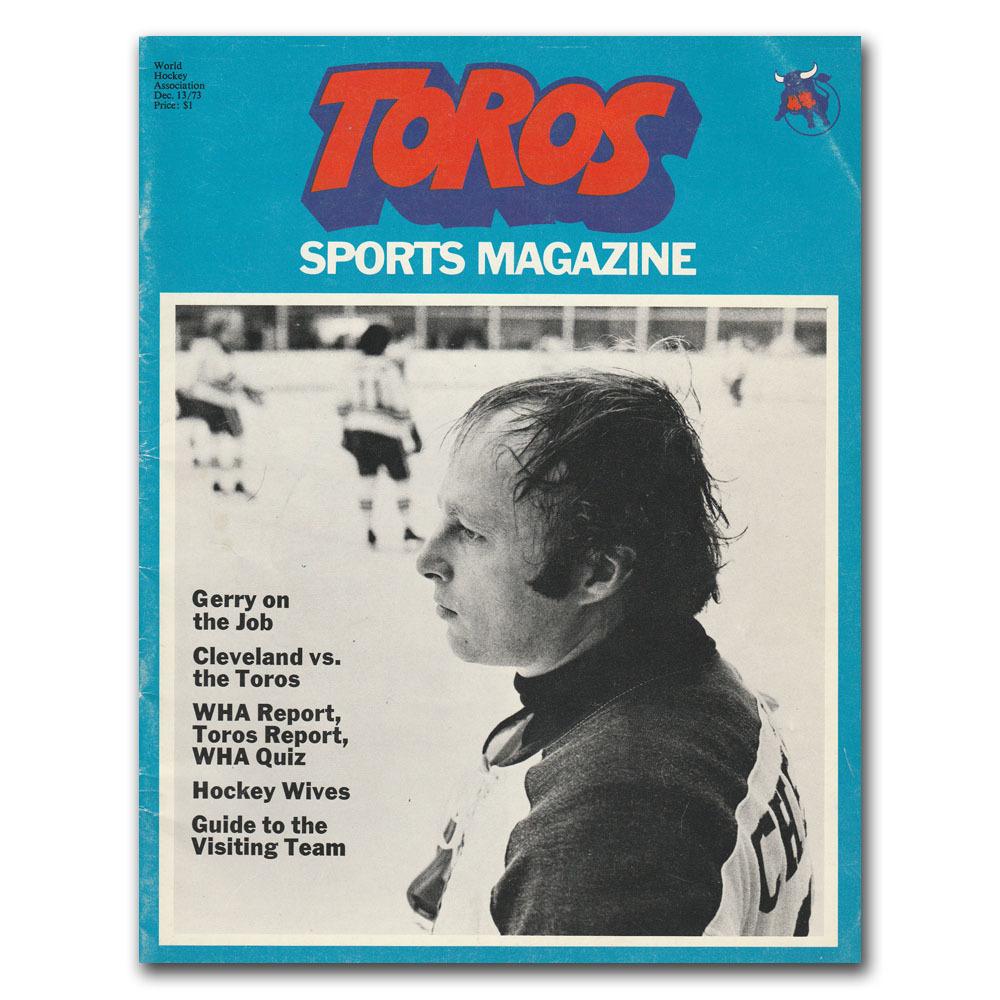 Toronto Toros (WHA) Program - 1972-73