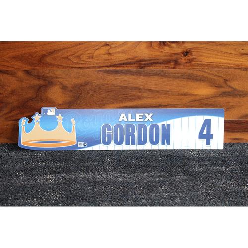 Game-Used Locker Name Plate: Alex Gordon