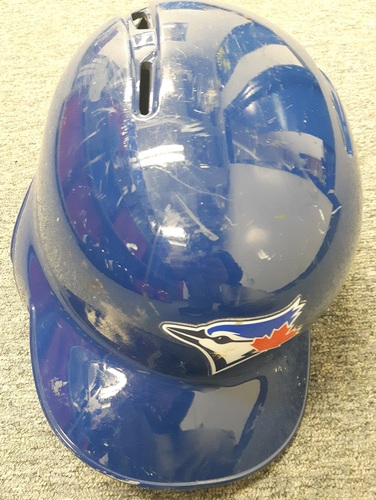 Photo of Authenticated Game Used Helmet - #3 Ezequiel Carrera. Size 7 1/8.