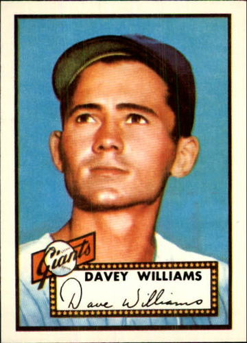 Photo of 1983 Topps 1952 Reprint #316 Dave Williams