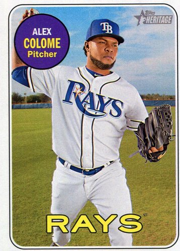 Photo of 2018 Topps Heritage #338 Alex Colome