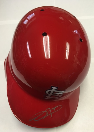 Photo of Dexter Fowler Autographed Cardinals Batting Helmet