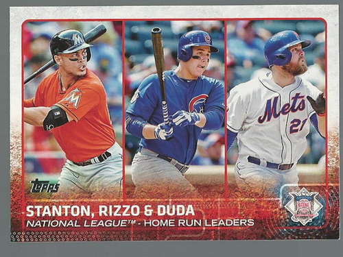 Photo of 2015 Topps #313 Anthony Rizzo/Giancarlo Stanton/Lucas Duda LL