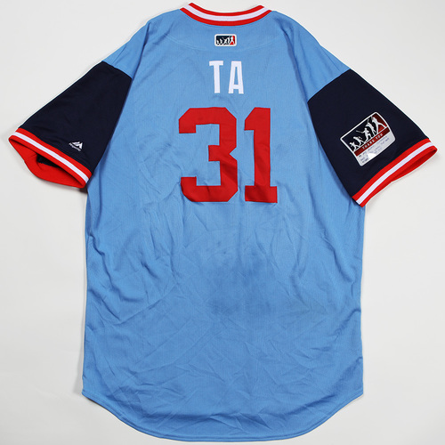 "Photo of Tyler ""TA""  Austin Minnesota Twins Game-Used Jersey 2018 Players' Weekend Jersey"