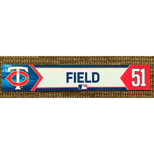 Photo of 2018 Game-Used Johnny Field Minnesota Twins Lockertag