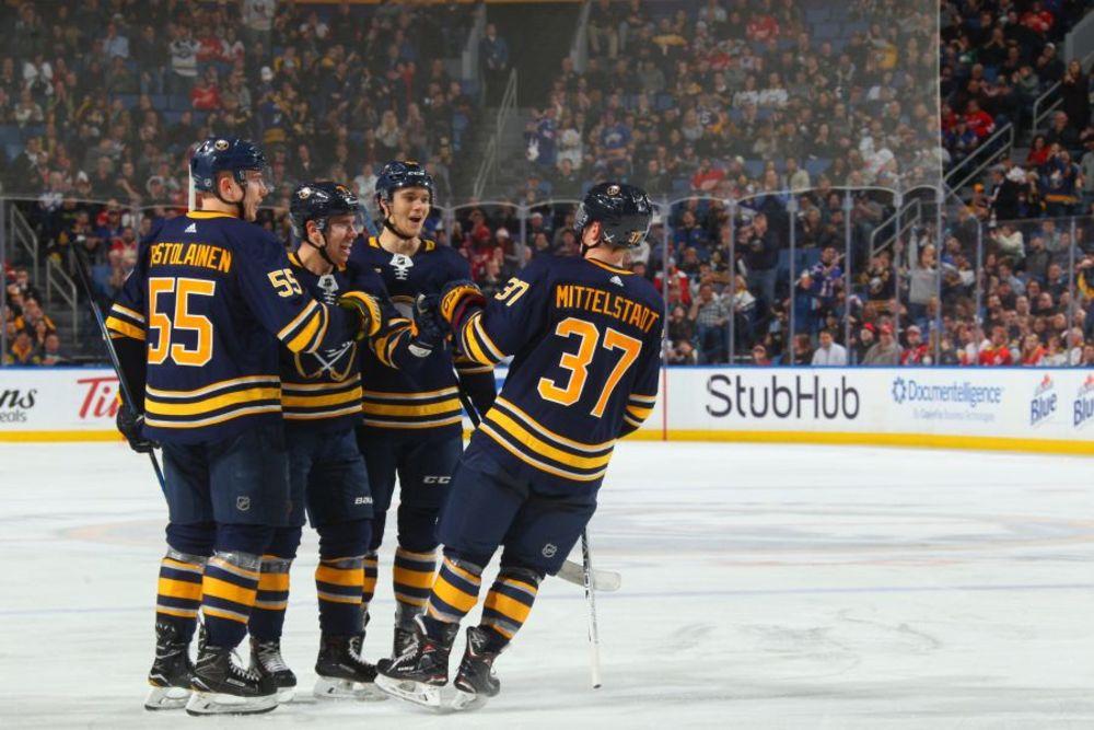 Buffalo Sabres vs. Boston Bruins 12-29-18, Sec 116, Row 1 Seats 17 & 18