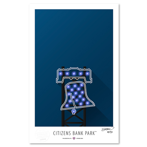 Photo of Citizens Bank Park- Collector's Edition Minimalist Art Print by S. Preston #119/350  - Philadelphia Phillies