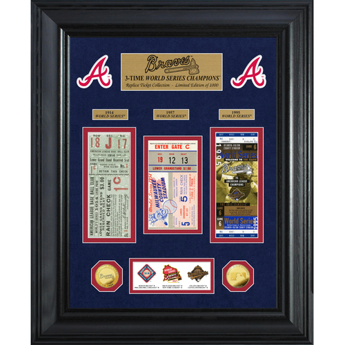 Photo of Atlanta Braves World Series Deluxe Gold Coin & Ticket Collection