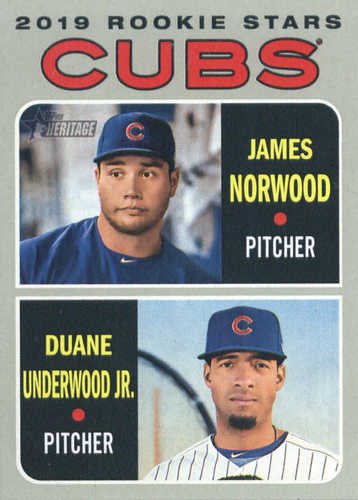 Photo of 2019 Topps Heritage #121 Duane Underwood Jr. RC/James Norwood RC