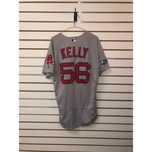 Photo of Joe Kelly Game Used October 8, 2018 Road Jersey
