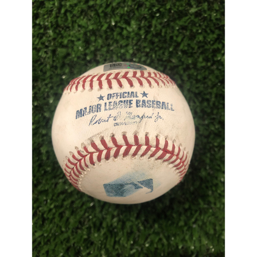 Photo of Brian McCann Game Used Hit Double Baseball - May 18, 2019