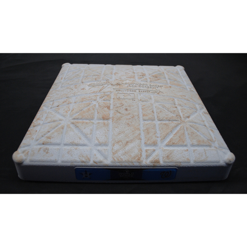 Photo of Game-Used Base - 2019 World Series - Washington Nationals vs. Houston Astros - World Series Game 4 - Third Base - Used Innings 1-5 - 10/26/2019