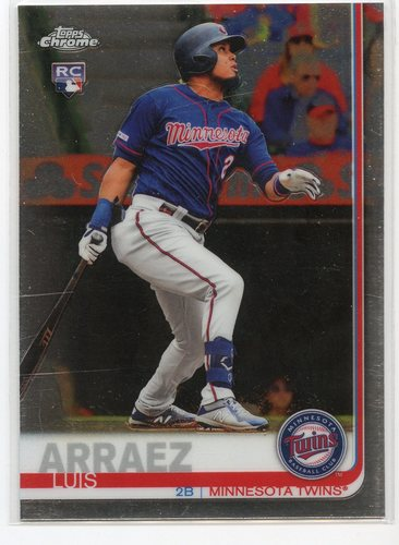 Photo of 2019 Topps Chrome Update #45 Luis Arraez Rookie Card