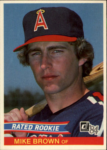 Photo of 1984 Donruss #42 Mike C. Brown RC/Angels OF